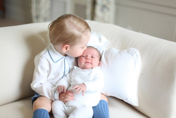 Princess Charlotte with Prince George