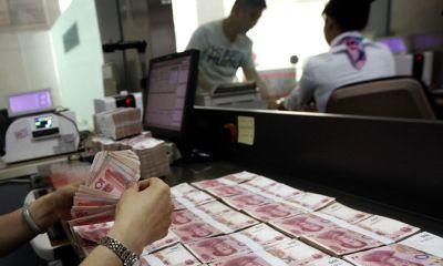 China's yuan falls