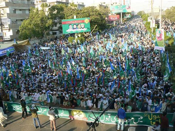 Religious Parties Protesting against execution of Mumtaz Qadri in Pakistan