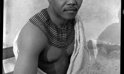 The young Nelson Mandela at his village