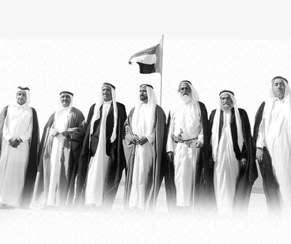 Rulers of all Emirates at the times of unification