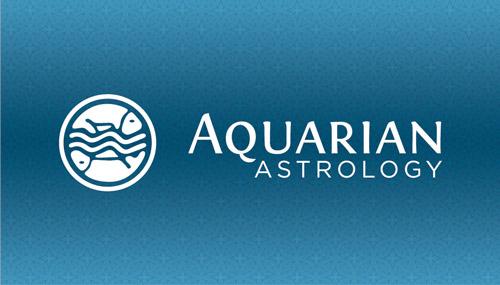 Aquarian Astrology Business Card Design Austin - Vector Logo Design Austin