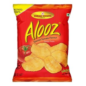 bombay sweets alooz spanish tomato flavor chips