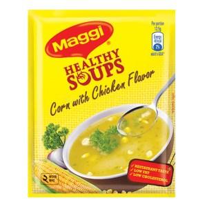 maggi healthy soup corn with chicken flavor