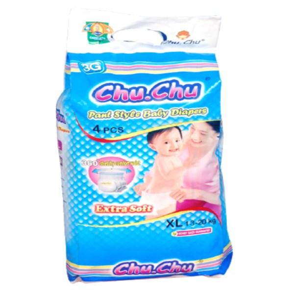 chu chu pant style baby diaper xl(13-20 kg) 4pcs