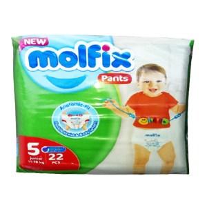 molfix baby diaper pants 5 junior (12-17kg) 22pcs
