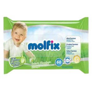 molfix baby lotion wet wipes 60pcs
