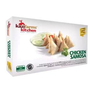 kazi farms kitchen chicken samosa 250gm