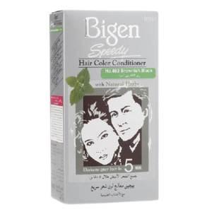 bigen hair color & conditioner (brownish black)