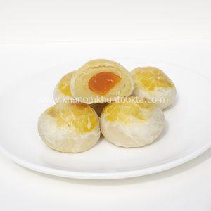 ขนมเปี๊๊ยะไส้ถั่วไข่เค็มครึ่งฟอง
