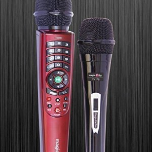 Kortek Magic Mike YK-17 Dual Wire Karaoke Microphone With 7650+ Songs-0