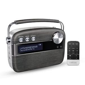 100% Original Saregama Carvaan Hindi 5000 Songs Portable Digital Music Player with Remote (Charcoal Grey)-0