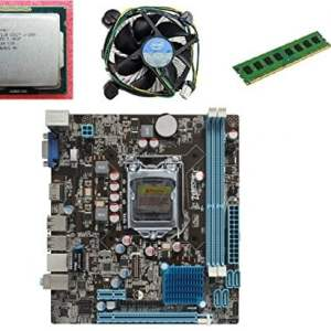KharidiyeBasic Zebronics Motherboard Combo H61 Chipset Motherboard with Intel Core I5-3rd Gen Processor with 4 GB DDR3 RAM Intel Fan-0