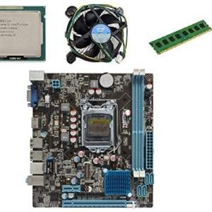 KharidiyeBasic Zebronics Board H61 Chipset Motherboard with 2 Years Warranty,Intel Core I3-3220 Processor with 4 GB DDR3 RAM CPU Fan-0