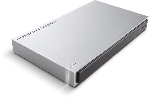Lacie 1TB Porsche Design USB 3.0 Portable 2.5 inch External Hard Drive for PC and Mac - Light Grey-0