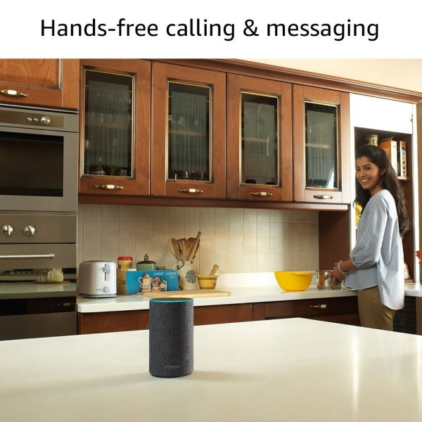Amazon Echo - Voice control your music, Make calls, Get news, weather & more, Powered by Dolby – Grey-5427