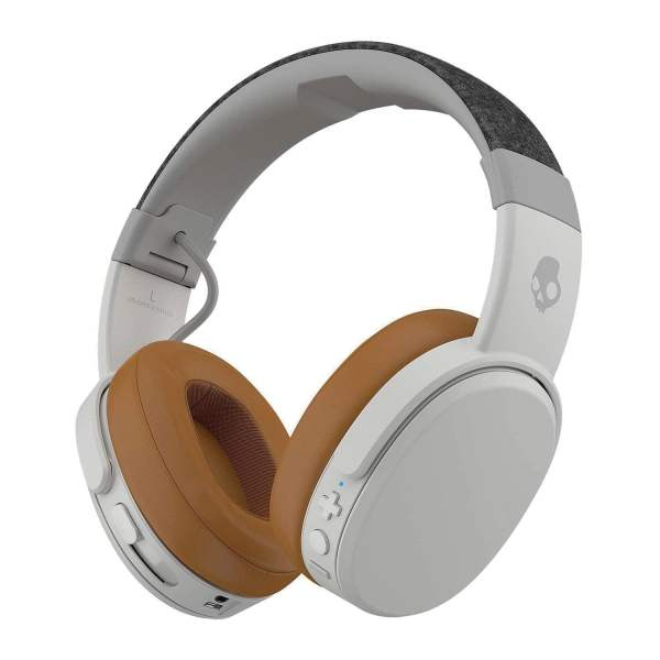 Skullcandy Crusher S6CRW-K590 Over-Ear Bluetooth Headphones (Grey/Tan)- 100% Original with 2Years Warranty-0