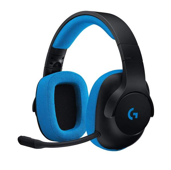 Logitech G233 Gaming Headset with Mic (Black and Blue)-0