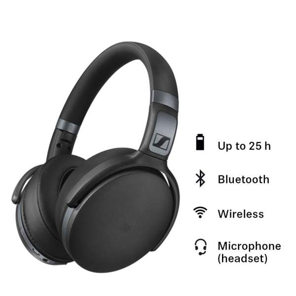 Sennheiser HD 4.40-BT Bluetooth Headphones (Black) With 2 Years Warranty, Packing Damage Only)-6231