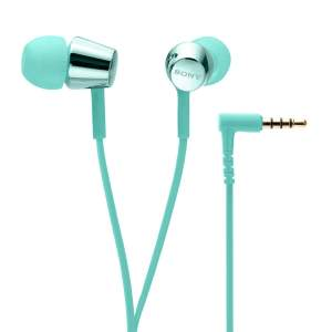 Sony MDR-EX155AP in-Ear Headphones with Mic (Light Blue)-0