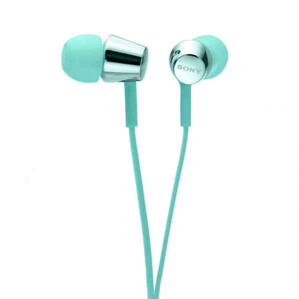Sony MDR-EX155AP in-Ear Headphones with Mic (Light Blue)-6762