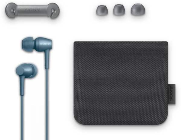 Sony IER-H500A in-Ear Headphones with Mic (Blue)-6496