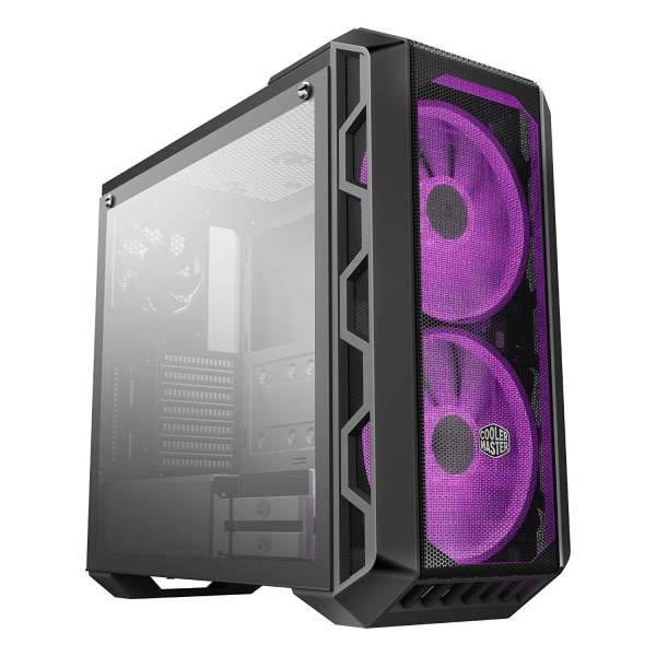 Cooler Master MasterCase H500 ATX Mid-Tower, Tempered Glass Panel, Two 200mm RGB Fans with Controller and Case Handle for Transport Cabinet-0