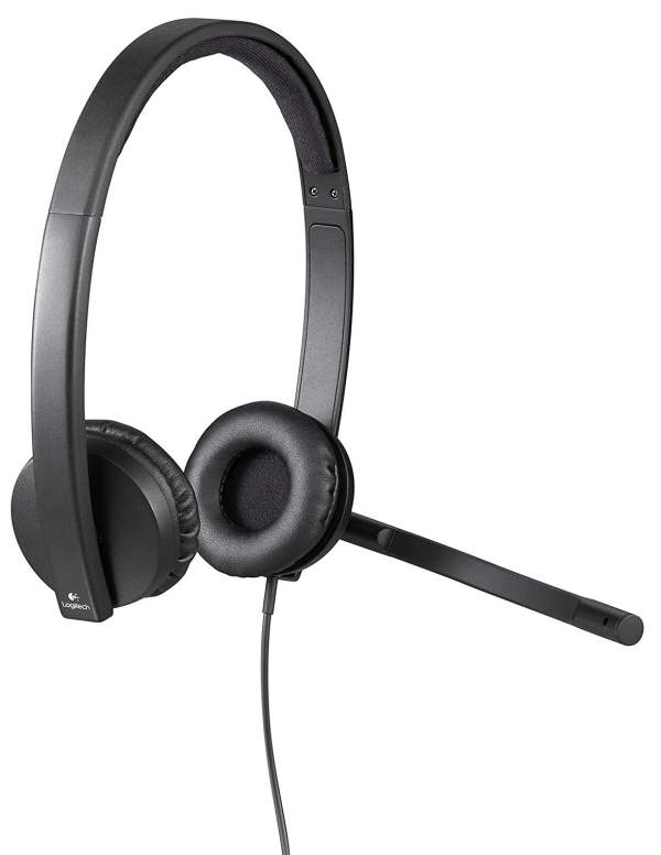 Logitech USB H570e Corded Double-Ear Headset (981-000574)-9540
