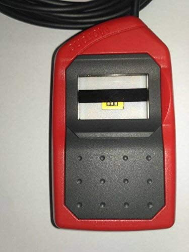 Safran Morpho Icons MSO 1300 E3 Biometric Fingerprint Scanner with RD Service (Red and Black)-10018