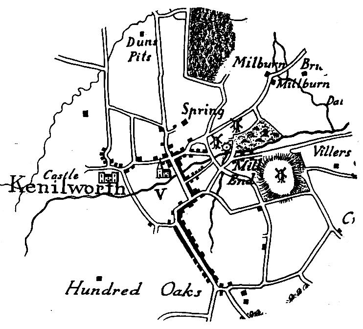Kenilworth Windmills Map 1793