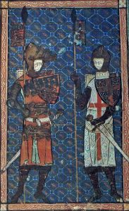 A depiction of Prince Edmund and St George