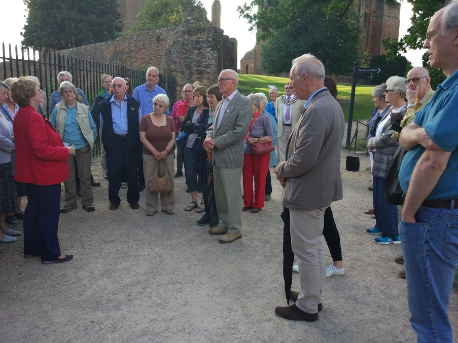 Talk and tour in the Castle by Chairman Jan, July 2017.