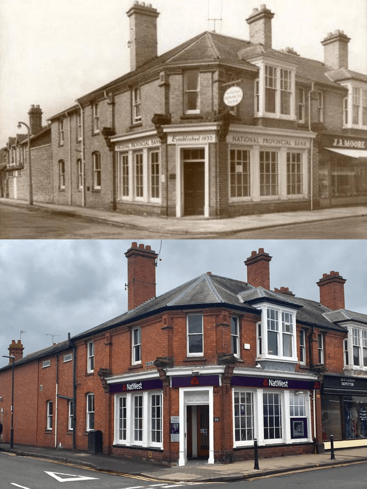 National Provincial Bank in 1963 and NatWest Bank in 2017 shortly before its closure