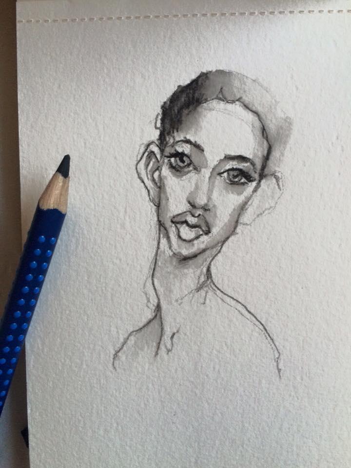 croquis crayon aqua