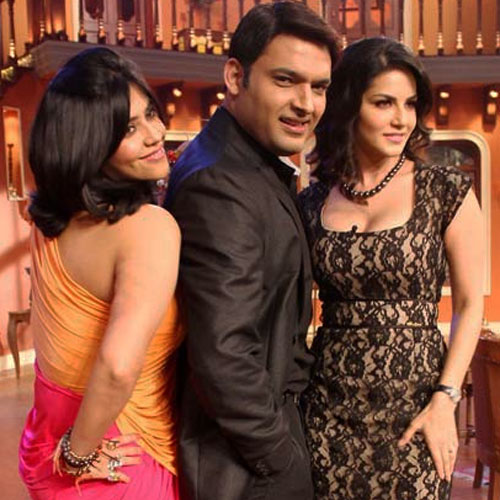Kapil की Comedy में Sunny Leone का तडका sunny-leone-came-in-the-show-of-kapil-1-1394019377
