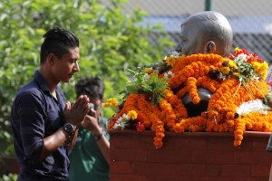 Nepal National Team Players Pay Tribute To Late Shrestha - Khel Dainik Photos
