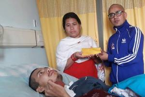 Nepalese Taekwondo Association Provides Monetary Support To Ailing Football Player Subash Gurung - Khel Dainik