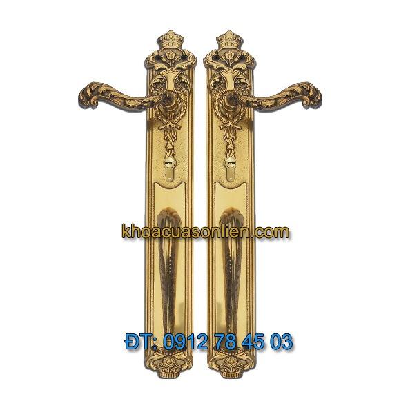 Báo giá Khoá cửa đại sảnh đồng thau mang phong cách cổ điển TD BPH-126510-2
