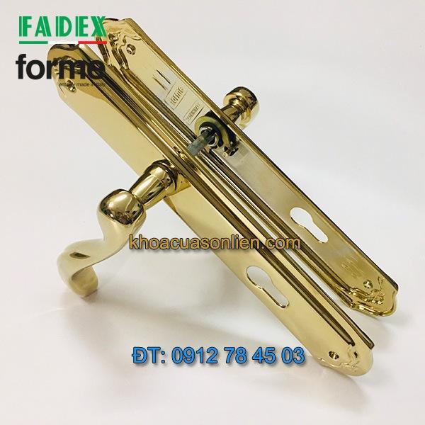 Báo giá nơi bán mẫu Khóa tay gạt cửa gỗ cổ điển Firenze 459 của Forme (FADEX) mạ PVD nhập khẩu Italy giá rẻ tại Hà Nội