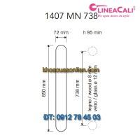 Báo giá Tay nắm cửa đại sảnh Queen 1407-MN-738 của Linea Cali