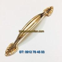 Báo giá nơi bán mẫu Tay co tủ bếp tân cổ điển màu vàng bóng TT-001 tâm 96 - 128mm giá rẻ tại Hà Nội