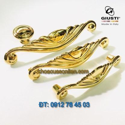Báo giá Tay nắm tủ cao cấp mạ vàng 24K Placcato Oro của hãng Giusti - Italy