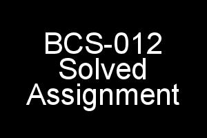BCS-012 Basic Mathematics Solved Assignment 2018-19