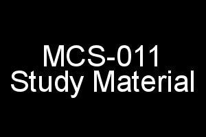 mcs 011 problem solving and programming syllabus