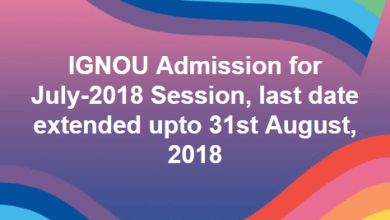 IGNOU Extended Last Date For New Admission August 2018