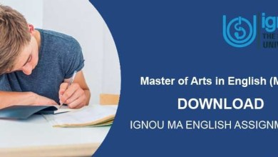 IGNOU MA English Assignments For July 2018 And January 2019 Session