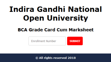 IGNOU BCA Marksheet Percentage Calculator