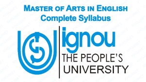 MA English Syllabus In IGNOU (Indira Gandhi National Open University)