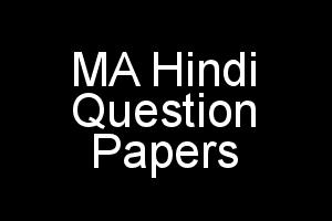 MA Hindi MHD Question Papers Previous Terms In PDF