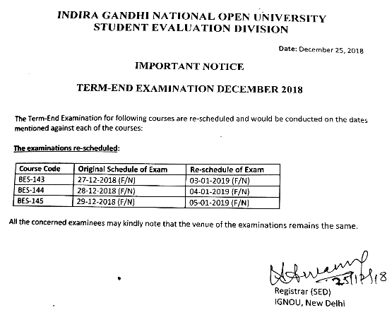 IGNOU-BED-Exams-Re-Scheduled-December-2018-January-2019
